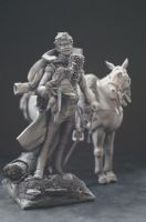 Cuirassier with Horse 90mm
